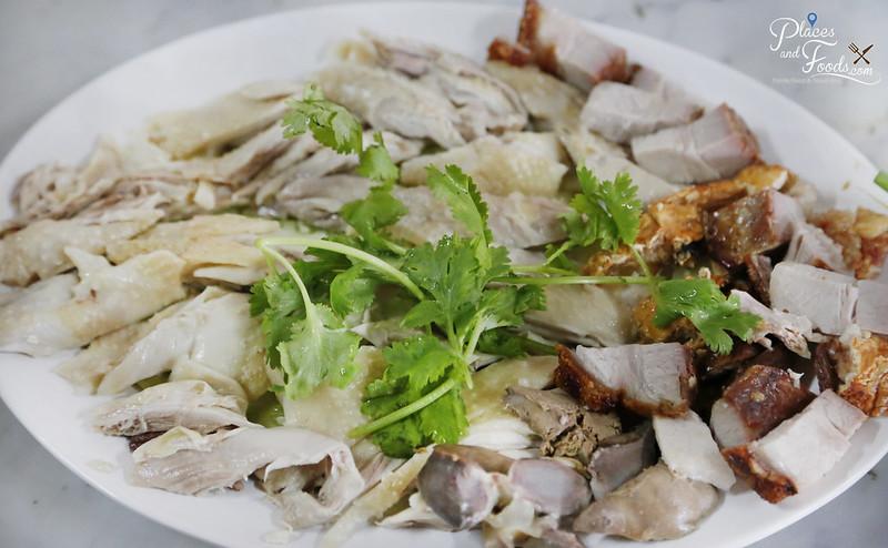 kolok chicken rice with siew yuk