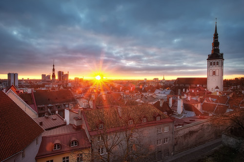city morning roof urban sun slr tower church digital photoshop sunrise canon landscape eos dawn town hall photo high europe tallinn estonia ray cityscape dynamic spires capital baltic unescoworldheritagesite unesco spire roofs explore photograph processing 5d nordic burst dslr oldtown range hdr highdynamicrange stnicholaschurch eesti markii postprocessing northerneurope photomatix europeancapitalofculture explored eestivabariik nigulistekirik tallinnaraekoda tallinntownhall thefella republicofestonia 5dmarkii conormacneill thefellaphotography tallinnanigulistekirik