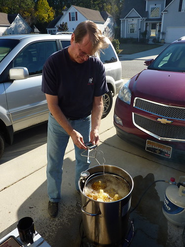 Frying the turkey!