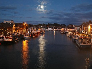 Moonlight on the River Wey Weymouth Dorset 2