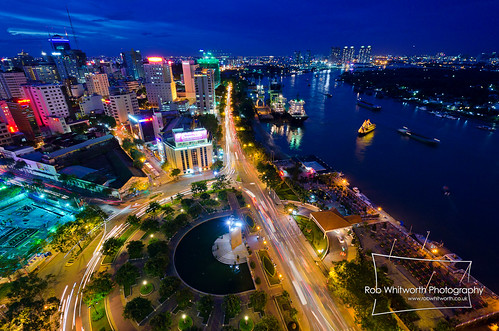 HCMC Saigon River Nightfall