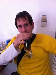 Bebiendo té a la menta en Asilah