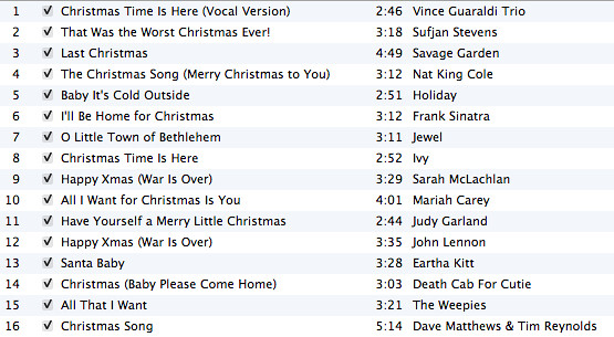Christmas Playlist 2006