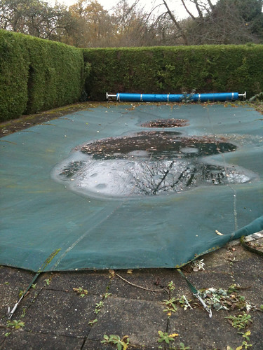 Neglected swimming pool