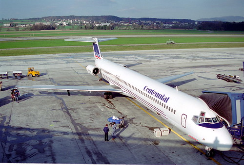 Centennial Airlines MD-83@ZRH;08.04.1995