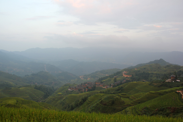 Sunrise at Longsheng Rice Terraces