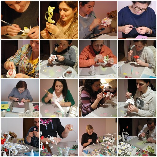 Sugar Gum Paste Flowers Workshop by Ayse Yaman in Istanbul,TURKEY