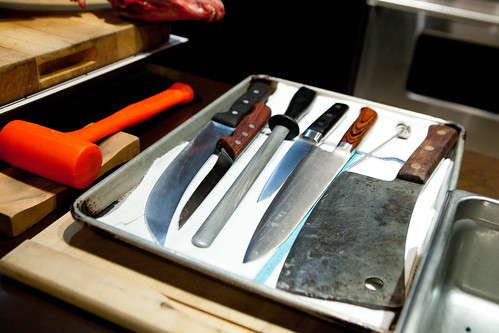 Ryan's knives and tools to break down an animal