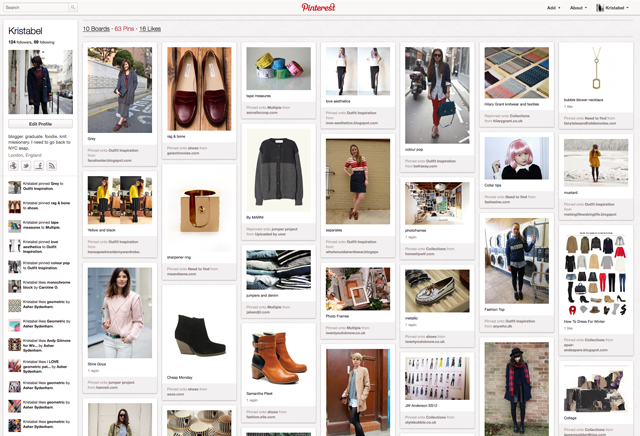 my pinterest pins