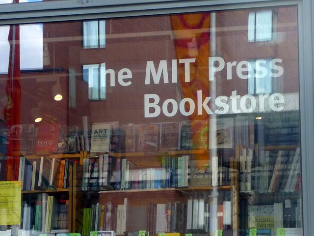 Kendall Square In the window at MIT Press Bookstore, Main Street, Cambridge, MA