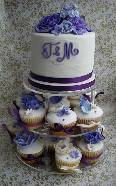Purple Ivory wedding