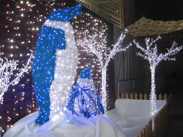 Innovative decorations at Village de Noël, La Défense, Paris