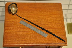 Colonial-Era ladle with Coin