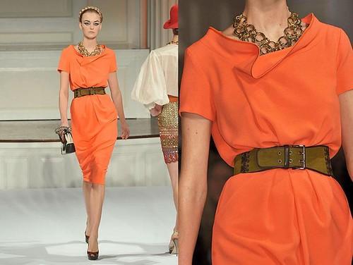 Oscar-de-la-Renta-primavera-vestido-naranja-cinturon