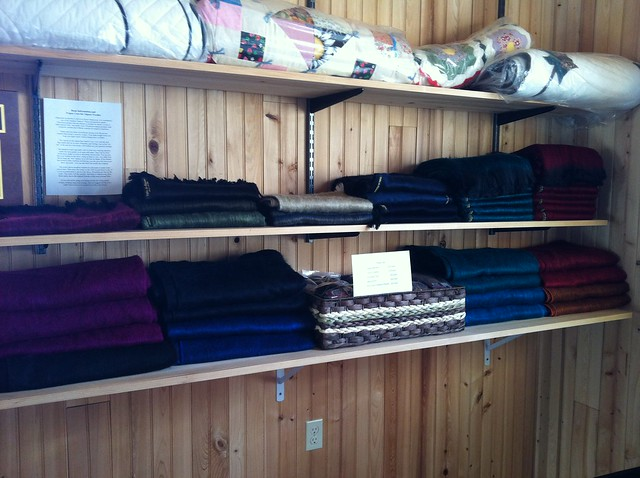 Alpaca scarves and blankets for sale