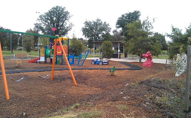 Maribyrnong playground - no longer underwater