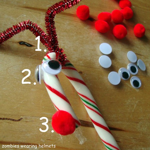 candy cane reindeer how to numbered