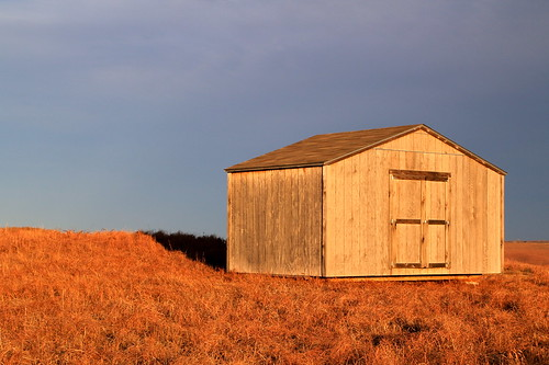 sunlit shed in Oklahoma
