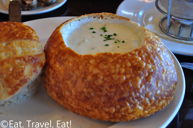 Bistro Boudin: Boudin Sourdough Bread Bowl with Clam Chowder-  Fisherman's Wharf, San Francisco, CA