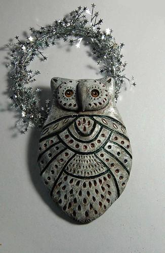 owl ornament2 by livingstonestudio