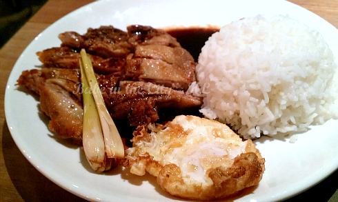 Lemongrass Chicken Chop & Fried Egg with Rice (RM15.90)