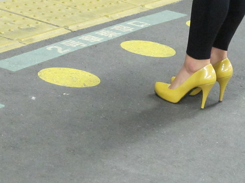 yellow dots for yellow shoes