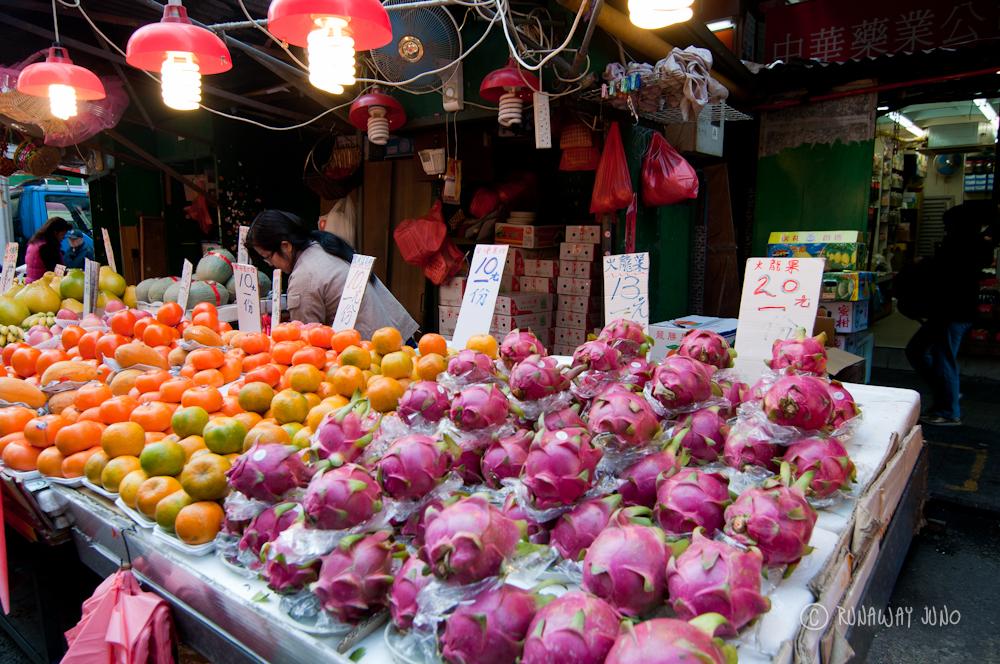 Fruit stand at Shau Kei Wan Market