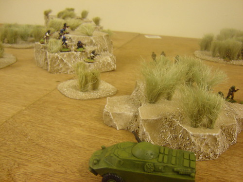 BRDM turns onto river bed