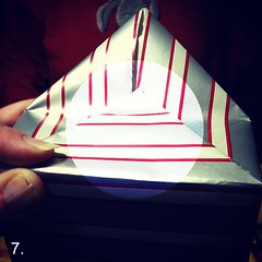step 7: fold point down