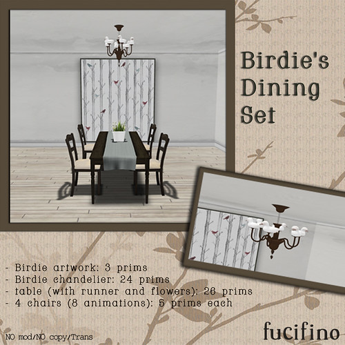 fucifino.birdie's dining set for project themeory