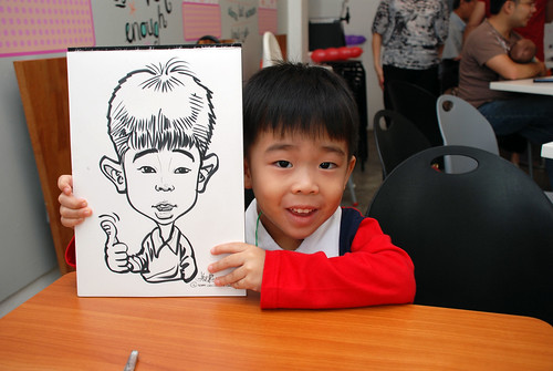caricature live sketching for birthday party 2nd Oct 2011 - 6