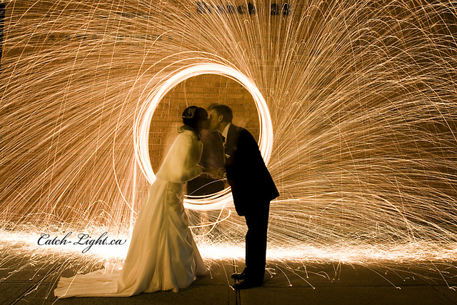 Winter Wedding Light Painting--(explored)