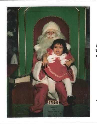 Vanessa and Santa 1983
