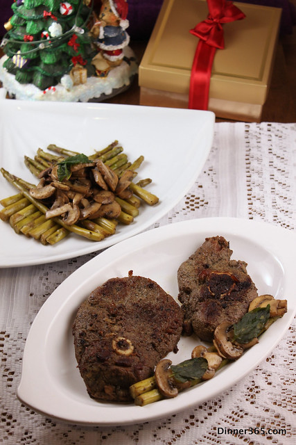 Day 358 - Baked Mint Lamb and Asparagus-Mushroom Stir Fry