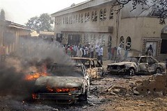 A series of bomb attacks were carried out in Nigeria on Christmas Day, 2011. Reports indicate that the Boko Haram Islamic group claimed responsibility for the attacks. by Pan-African News Wire File Photos