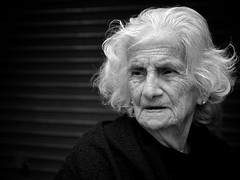[Free Images] People, Middle and Old Age, Grandmother, Black and White, Lebanese People ID:201112310400