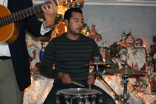 Adrian on drums