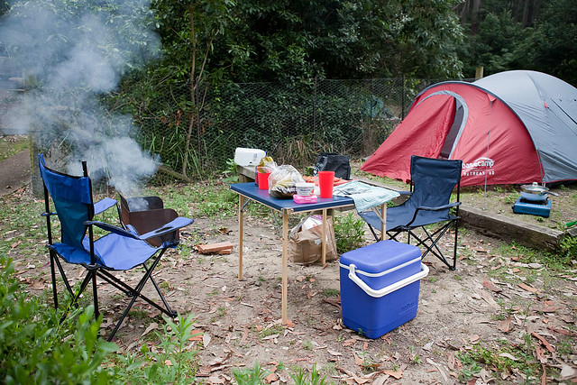 Camping in Murramarang National Park, NSW, Australia
