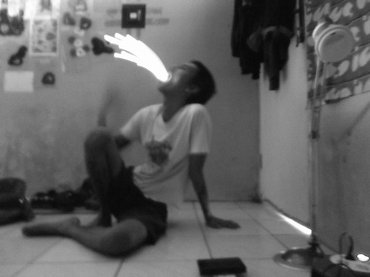 he eats sparks