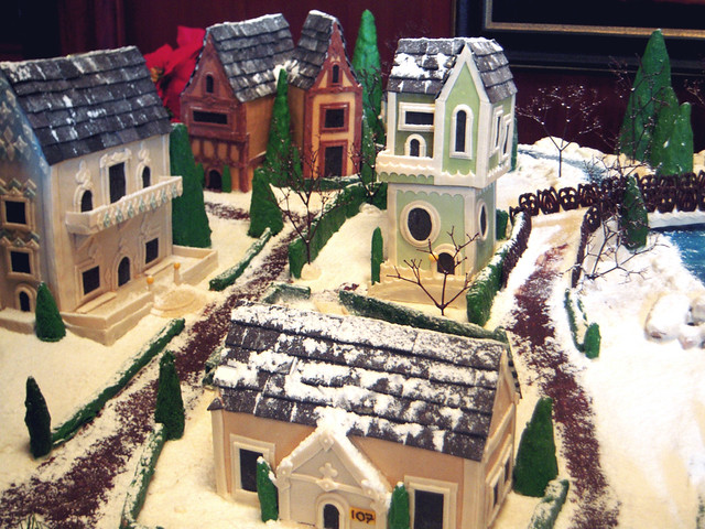 Close-Up of Gingerbread town