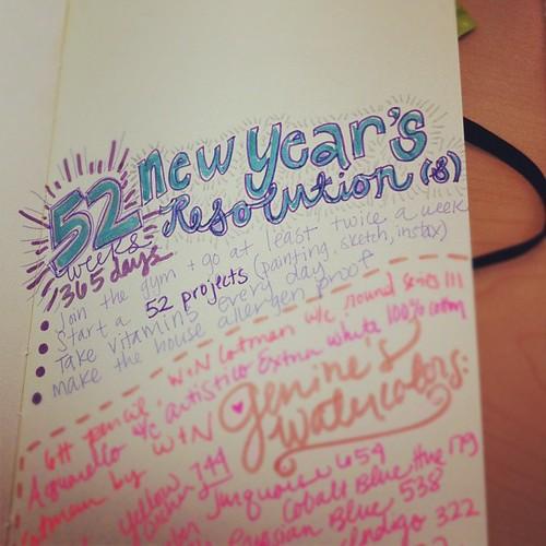 #newyearsresolutions #list #moleskine