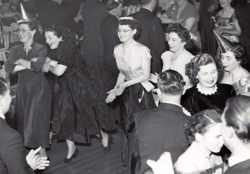 New Year party. 1951. (enlarged section)