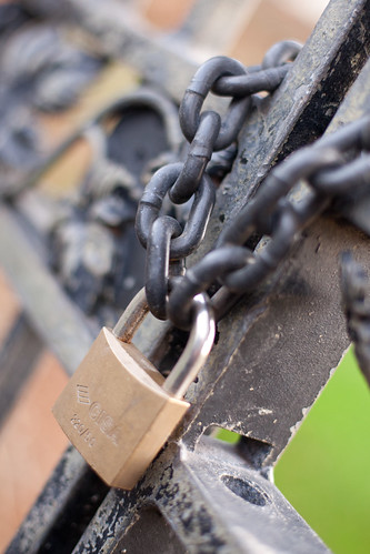 994/1000 - Padlocked Gate by Mark Carline