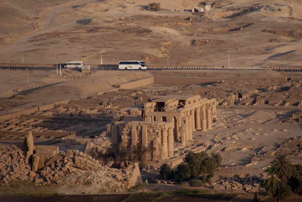 Ramesseum from the air
