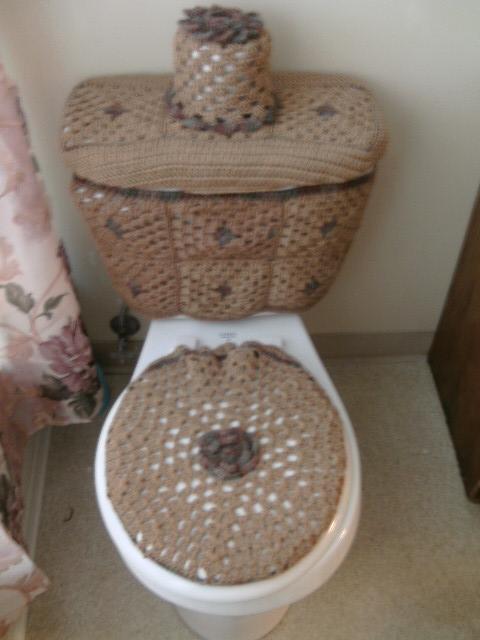 Set De Baño Navideno:set de baño tejido