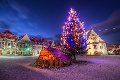 Christmas tree in Bardejov