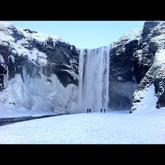 #iceland #trip #travel #waterfall #glacier #frozen