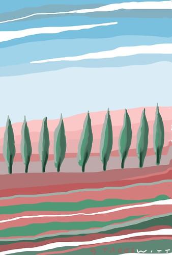 Mondaylandscape 9trees by douglaswittnebel