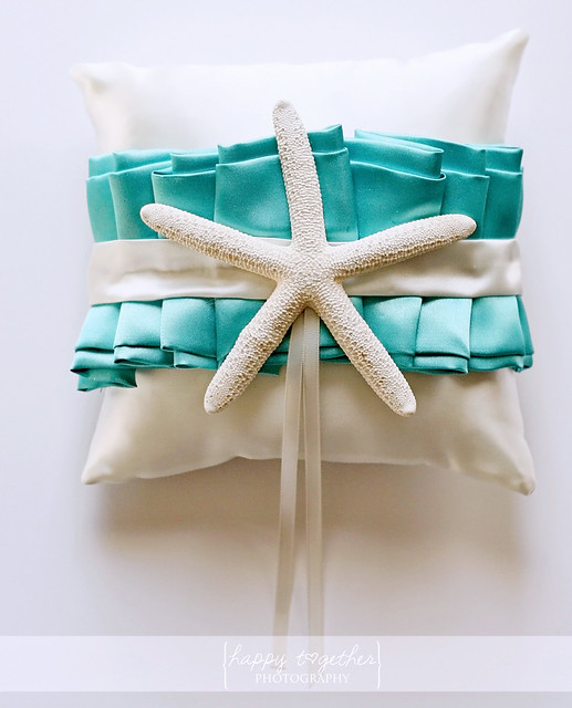 Starfish ring bearer pillow
