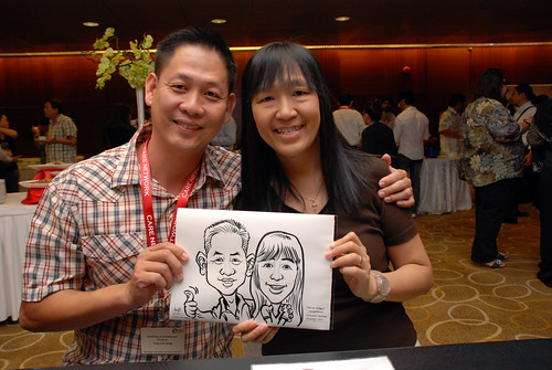 Caricature live sketching for SCORE – Yellow Ribbon Celebrating 2nd Chances 2011 - 5